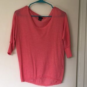 Coral/pink sweater